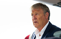 18/08/15<br /> GLASGOW AIRPORT<br /> Malmo manager Age Hareide exits Glasgow Airport.
