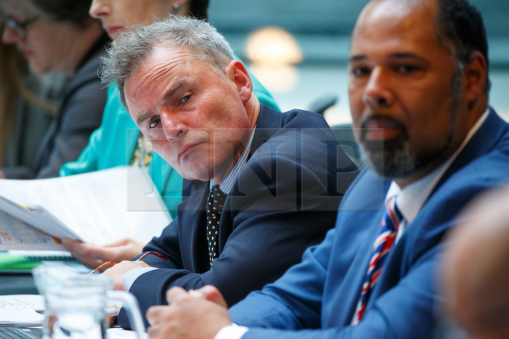 © Licensed to London News Pictures. 25/05/2016. London, UK. UKIP's PETER WHITTLE and DAVID KIRTON attend Mayor of London Sadiq Khan's first Mayor's Question Time at City Hall in London on Wednesday, 25 May 2016. Photo credit: Tolga Akmen/LNP