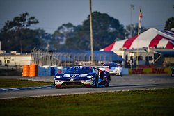 March 15, 2019 - Sebring, UNITED STATES OF AMERICA - 67 FORD CHIP GANASSI RACING (USA) FORD GT GTLM RYAN BRISCOE (AUS) RICHARD WESTBROOK (GBR) SCOTT DIXON  (Credit Image: © Panoramic via ZUMA Press)