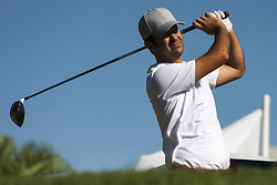 February 3, 2018 - Shah Alam, Kuala Lumpur, Malaysia - Jorge Campillo is seen taking a shot from hole no 3 on day 3 at the Maybank Championship 2018...The Maybank Championship 2018 golf event is being hosted on 1st to 4th February at Saujana Golf & Country Club. (Credit Image: © Faris Hadziq/SOPA via ZUMA Wire)