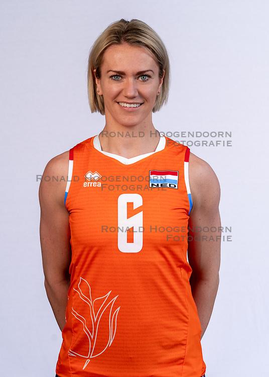 Maret Grothues of Netherlands, Photoshoot selection of Orange women's volleybal team season 2021on may 12, 2021 in Arnhem, Netherlands (Photo by RHF Agency/Ronald Hoogendoorn)