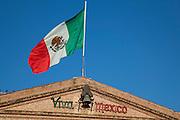 Mexican flag, Viva Mexico sign, El Fuerte, Sinaloa, Mexico