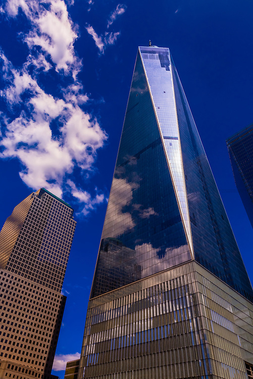 One World Trade Center and World Financial Center, Battery Park City in Manhattan, New York City, New York USA.