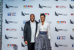 October 11, 2016 - Nashville, Tennessee, USA - Anthony Evans & Priscilla Shirer at the 47th Annual GMA Dove Awards  in Nashville, TN at Allen Arena on the campus of Lipscomb University.  The GMA Dove Awards is an awards show produced by the Gospel Music Association. (Credit Image: © Jason Walle via ZUMA Wire)