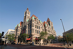 Minnesota, Twin Cities, Minneapolis-Saint Paul: The Landmark Building in downtown St Paul, by Rice Park.  This former Federal Building now hosts arts organizations..Photo mnqual298-75010..Photo copyright Lee Foster, www.fostertravel.com, 510-549-2202, lee@fostertravel.com.