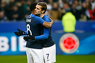 France's Antoine Griezmann (R) and Thomas Lemar during the International Friendly Game football match between France and Colombia on march 23, 2018 at Stade de France in Saint-Denis, France - Photo Geoffroy Van Der Hasselt / ProSportsImages / DPPI