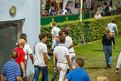 Team Belgium  <br /> Kurt Gravemeier, Olivier Philippaerts, Pieter Devos, Hymne Rydant<br /> Winners of the Mercedes-benz Nationenpreis<br /> Weltfest des Pferdesports CHIO Aachen 2014<br /> © Hippo Foto - Dirk Caremans