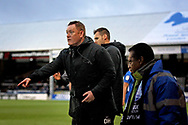 Bradford City Manager David Hopkin questioning a referees decision during  the The FA Cup 2nd round match between Peterborough United and Bradford City at London Road, Peterborough, England on 1 December 2018.