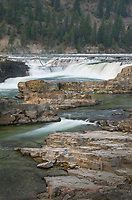 Kootenai Falls Montana, a series of cascades on the Kootenai River.