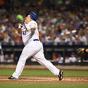 NEW YORK, NEW YORK - June 16: Pitcher Bartolo Colon #40 of the New York Mets swings and misses at a pitch from A.J. Schugel #31 of the Pittsburgh Pirates and almost loses his helmet during the Pittsburgh Pirates Vs New York Mets regular season MLB game at Citi Field on June 16, 2016 in New York City. (Photo by Tim Clayton/Corbis via Getty Images)