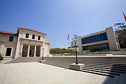 Coons Administrative Center where Obama gave speech as student. Occidental College is where Barack Obama attended from fall 1979 through spring 1981 before  transferring to Columbia University. Highland Park, Los Angeles, California, USA
