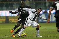 "Paul Pogba Juventus Marco Marchionni Parma.Parma 13/01/2013 Stadio ""Tardini"".Football Calcio Serie A 2012/13.Parma v Juventus.Foto Insidefoto Paolo Nucci."