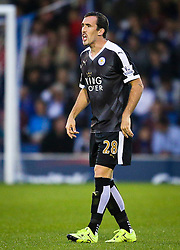 Christian Fuchs of Leicester City - Mandatory byline: Matt McNulty/JMP - 07966386802 - 25/08/2015 - FOOTBALL - Gigg Lane -Bury,England - Bury v Leicester City - Capital One Cup - Second Round