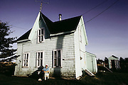 Old house on Cape Sable Island, Clark's Harbor. Nova Scotia, Canada.