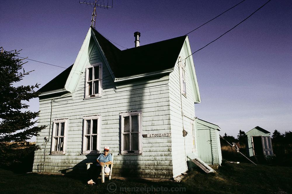 Old house on Cape Sable Island, Clark's Harbor. Nova Scotia, Canada.