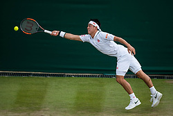 July 9, 2018 - London, England, U.S. - LONDON, ENG - JULY 09: XX (XXX) during day seven match of the 2018 Wimbledon on July 9, 2018, at All England Lawn Tennis and Croquet Club in London,England. (Photo by Chaz Niell/Icon Sportswire) (Credit Image: © Chaz Niell/Icon SMI via ZUMA Press)