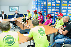 Athletes during press conference of Slovenian Biathlon Team after medals at IBU Summer Biathlon World Championships in Tyumen (Russia) on August 26, 2014 in SZS, Ljubljana, Slovenia. Photo by Vid Ponikvar / Sportida