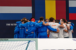 Team Netherlands against France during the Olympic qualifying tournament. The Dutch water polo players are on the hunt for a starting ticket for the Olympic Games on February 17, 2021 in Rotterdam