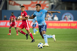 August 22, 2018 - Bronx, New York, United States - New York City defender RODNEY WALLACE (23) during a regular season match at Yankee Stadium in Bronx, NY.  New York City FC tie the New York Red Bulls 1 to 1 (Credit Image: © Mark Smith via ZUMA Wire)