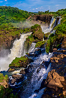 Iguazu Falls (Iguacu in Portugese), on the border of Brazil and Argentina. It is one of the New 7 Wonders of Nature and is a UNESCO World Heritage Site. There are 275 waterfalls total which make up the largest waterfalls in the world.  (from Argentina side)