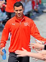 GEPA-0806085635 - FEUSISBERG,SCHWEIZ,08.JUN.08 - FUSSBALL - UEFA Europameisterschaft, Vorbereitung auf die EURO 2008, Nationalteam Schweiz, Training. Bild zeigt Johan Vonlanthen (SUI).<br />Foto: GEPA pictures/ Oliver Lerch