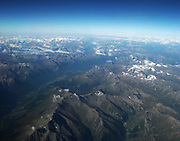 The Alps, one of the mountain range systems of Europe, stretching nearly 1,200 kilometres (750 mi) across seven countries: Austria, Slovenia, Switzerland, Liechtenstein, Germany, France, Italy and Monaco.