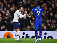 Football - 2019 / 2020 Premier League - Tottenham Hotspur vs. Chelsea<br /> <br /> Tottenham Hotspur's Son Heung-Min pleads with Chelsea's Antonio Rudiger, at The Tottenham Hotspur Stadium.<br /> <br /> COLORSPORT/ASHLEY WESTERN