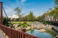 Shanghai, China - April 7, 2013: scenic view of gucheng park at the city of Shanghai in China on april 7th, 2013