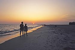Sarasota Beach Sunset W/ Couple