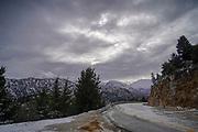 snowscape at Lassithi Plateau, Crete Island, Greece