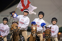Members of team England compete in the DAKS Pony Club Mounted Games during the Royal Windsor Horse Show at Windsor Castle, Berkshire.