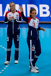 06-12-2019 JAP: Norway - Netherlands, Kumamoto<br /> Last match groep A at 24th IHF Women's Handball World Championship. / The Dutch handball players won in an exciting game of fear gegner Norway and wrote in the last group match at the World Handball  World Championship history (30-28). / Marta Tomac #26 of Norway