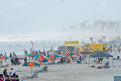 The beach near the Main Street pier during Daytona Beach Bike Week 2015. FL, USA. March 14, 2015.  Photography ©2015 Michael Lichter.