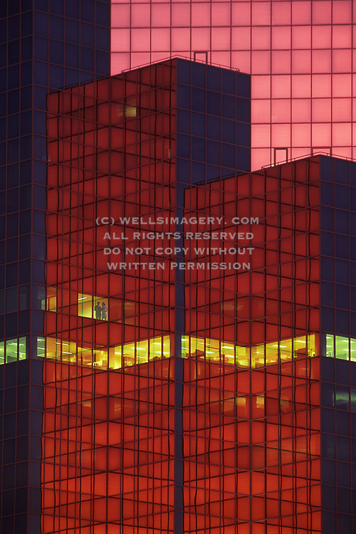 Image of an office building with the team working late in Seattle, Washington, Pacific Northwest by Randy Wells