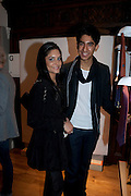 BROTHER AND SISTER; KOMAL PATEL; DEV PATEL; , Hermes pour Liberty collaboration launch party. Liberty.  London. 7 September 2009.