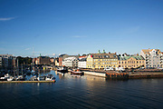 Landskrona is seen from the ferry from Ven, Sweden, 23rd of August 2016.