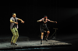 South Africa - Johannesburg. 29-08-18  Montecasino Teatro, Fourways.  'Enforcer' Richie Miller and 'Kid' Reid Perry in the 'Pack' set from Tap Dogs.  Picture: Karen Sandison/African News Agency(ANA)