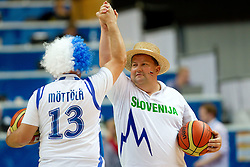 Fans of Finland and Slovenia during basketball game between National basketball teams of Slovenia and Finland at FIBA Europe Eurobasket Lithuania 2011, on September 12, 2011, in Siemens Arena,  Vilnius, Lithuania.  (Photo by Vid Ponikvar / Sportida)