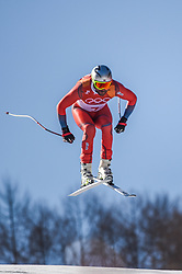 February 15, 2018 - Jeongseon, Gangwon, South Korea - Aksel Lund Svindal of Norway competing winning mens downhill at Jeongseon Alpine Centre at Jeongseon , South Korea on February 15, 2018. (Credit Image: © Ulrik Pedersen/NurPhoto via ZUMA Press)