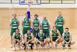Team KZS at basketball match between Slovenian Basketball journalists and  Basketball federation of Slovenia, on March 13, 2013 in Arena Vitranc, Kranjska Gora, Slovenia. (Photo by Vid Ponikvar / Sportida.com)