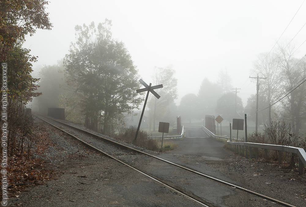 Rail crossing, Hoosick Falls, NY