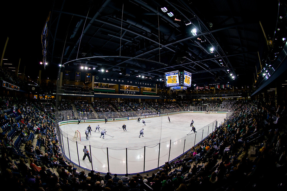 March 01, 2019:  during NCAA Hockey game action between the Penn State Nittany Lions and the Notre Dame Fighting Irish at Compton Family Ice Arena in South Bend, Indiana.  Notre Dame defeated Penn State 5-4 in overtime.  John Mersits/CSM