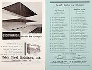 All Ireland Senior Hurling Championship Final,.02.09.1962, 09.02.1962, 2nd September 1962,.Minor Tipperary v Kilkenny, .Senior Wexford v Tipperary, Tipperary 3-10 Wexford 2-11, ..Irish Steel Holdings ltd, .Haulbowling County Cork, ...Kilkenny,.Skehan, Treacy, Phelan, Walsh, Hanrahan, Drennan, Burke,  Byrne, Muldowney,  Cooke, Walsh, Delaney, Dunphy,  Aylward,  Walsh, Walsh,  Ryan,  Twomey,  Kinsella, 20 Shortall, ..Tipperary, .Fayard, Smith, O'Rourke, O'Meara, Killoran, Gaynor, Loughnane, Delaney, O'Brien, Nolan,  Keating,  Loughnane, Molony,  Buckley, Brennan, Fleming, Nash,  Darmody,  Gould, Hayes,