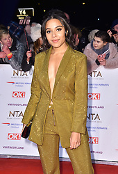 Leonie Elliott attending the National Television Awards 2019 held at the O2 Arena, London.