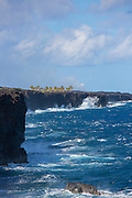 Coastline, Hawaii Volcanoes National Park, Kilauea Volcano, Big Island of Hawaii