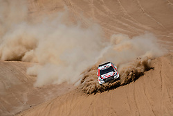 Nasser Al-Attiyah (QAT) of Toyota Gazoo Racing SA races during stage 05 of Rally Dakar 2019 from Monquegua, to Arequipa, Peru on January 11, 2019 // Marcelo Maragni/Red Bull Content Pool // AP-1Y3KKVDC51W11 // Usage for editorial use only // Please go to www.redbullcontentpool.com for further information. //