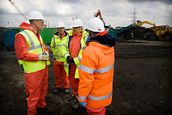 Olympic Park. John Armitt on tour of soil cleaning machines. Picture by David Poultney.