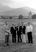Opening of Beaufort Golf Club in 1990 with Arthur Spring, the Mcgill family and Tim Thompson.<br /> Now & Then - MacMONAGLE photo archives.<br /> Picture by Don MacMonagle -macmonagle.com<br /> Facebook - @killarneynowandthen