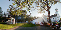 The 2nd Baptist Church in Sanbornton hosted a spaghetti dinner followed by a concert with the Lakes Region Big Band raising over $2300.00 that will go towards the renovation of a new bandstand on the Church's front lawn.  (Karen Bobotas/for the Laconia Daily Sun)
