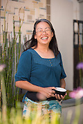 Owner Carole Rast poses for a portrait at Roy's Station Coffee & Teas in Japantown of San Jose, California, on September 16, 2014. (Stan Olszewski/SOSKIphoto for Content Magazine)
